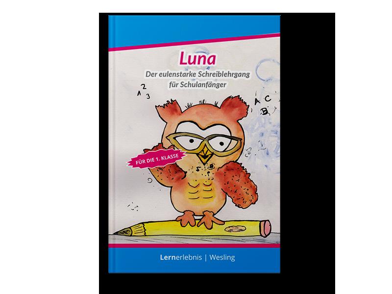 Luna - Der eulenstarke Schreiblehrgang Übungsbuchcover